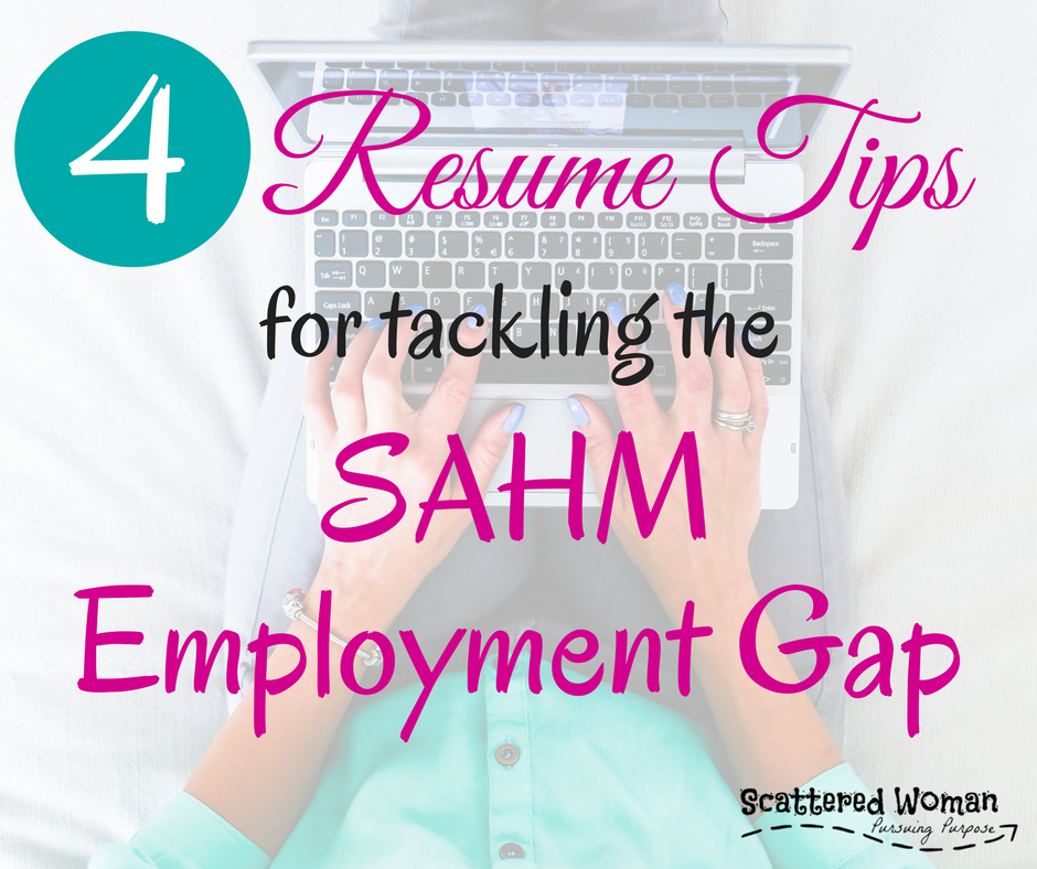 Are you a Stay-at-Home Mom ready to go back to work? Need a resume? Here are 4 great tips to get you started. PLUS a FREE resume template and tip sheet designed just for YOU!