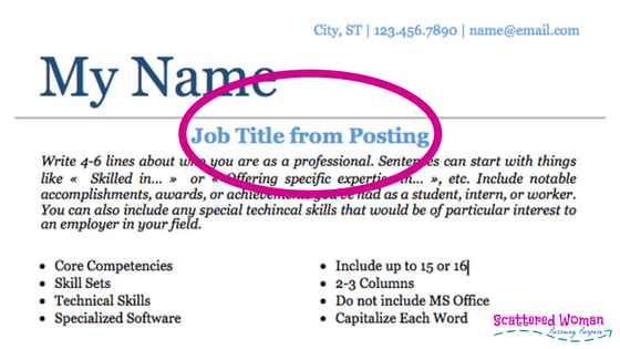 how to use job postings to get your resume noticed scattered
