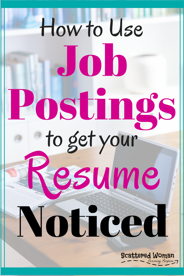 Is your job search stalled? No calls back? You might be missing a critical step. Here is exactly how to use job postings to get your resume noticed!