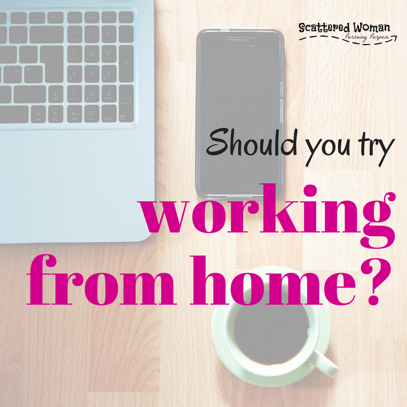 It's a fact of life: most of us Stay-at-Home Moms, at some point, will either want or need to go back to work. Should you try working from home?